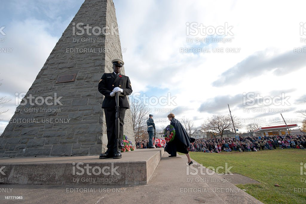 Remembrance Day Ceremony. royalty-free stock photo