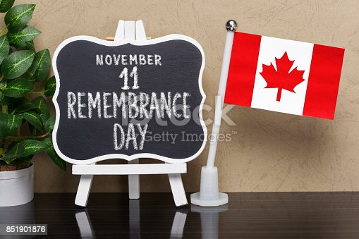istock Remembrance Day - Holiday in Canada 851901876