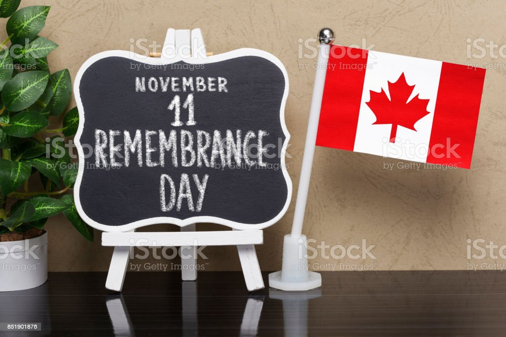 Remembrance Day - Holiday in Canada stock photo
