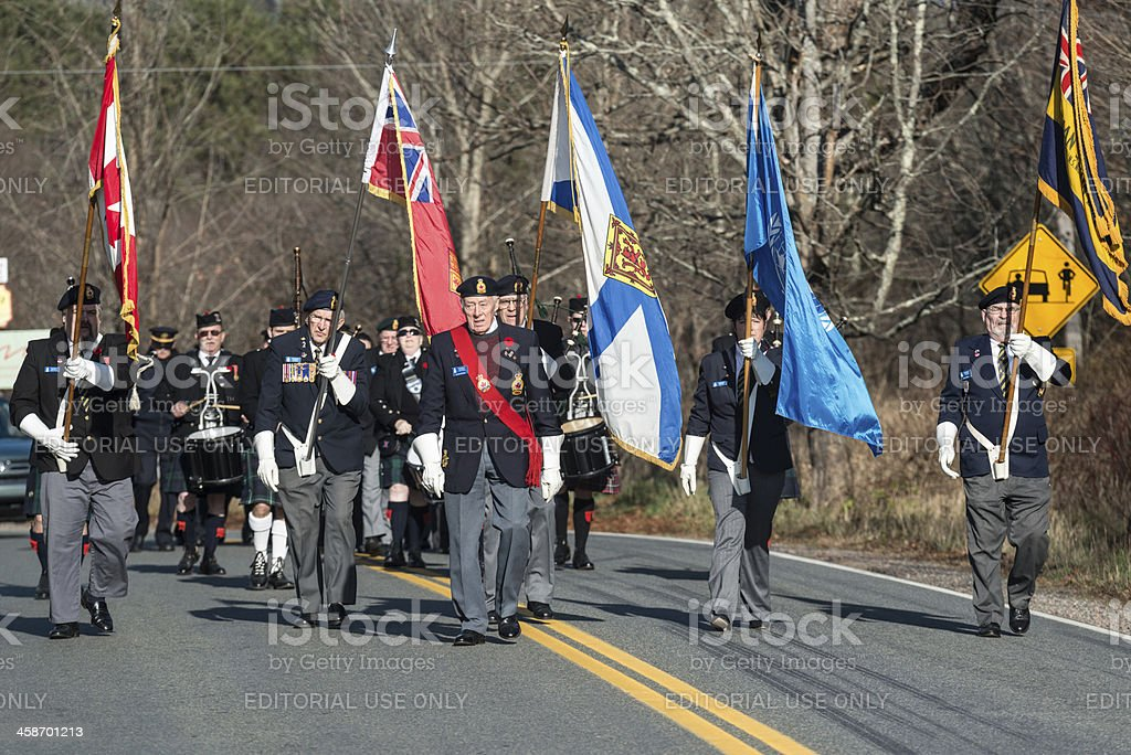 Remembrance Day March royalty-free stock photo