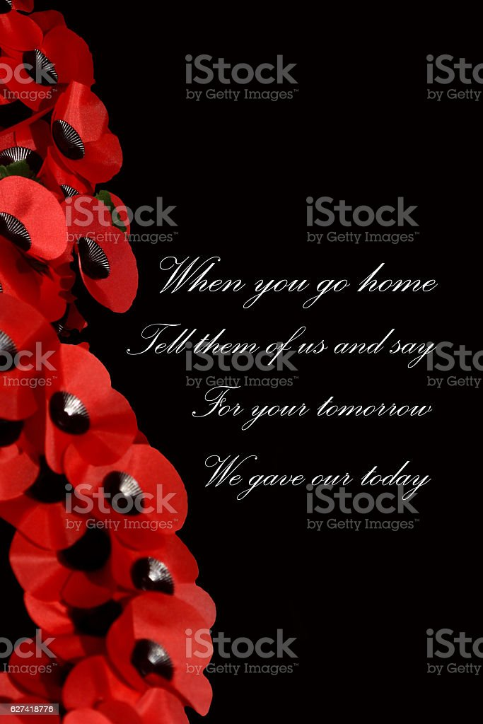 Remembrance stock photo