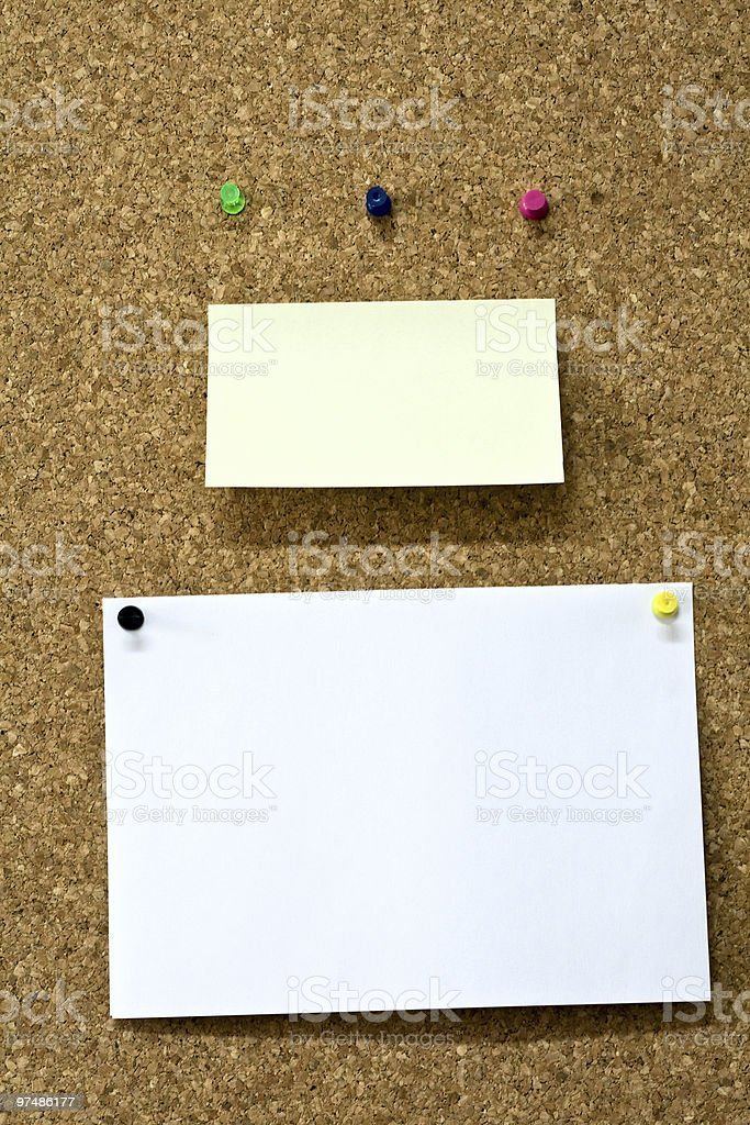 Reminder and paper on wooden board royalty-free stock photo