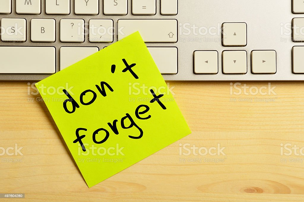 Reminder Concept (Click for more) stock photo