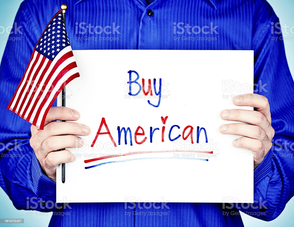 Reminder to Buy American royalty-free stock photo