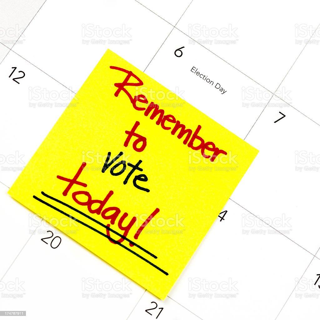 Reminder to Vote royalty-free stock photo