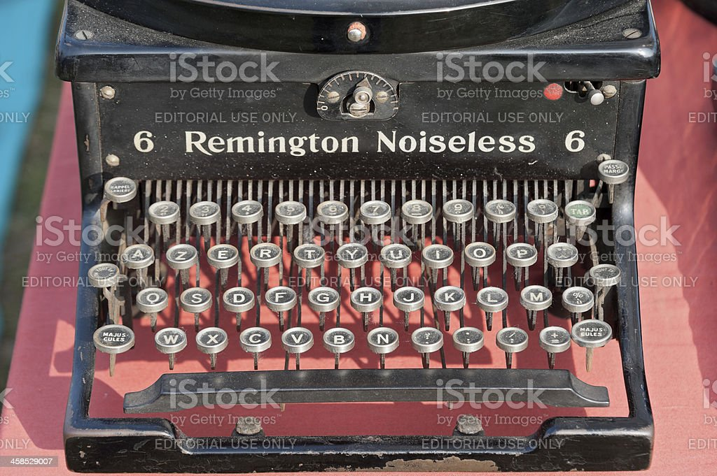 Remington Noiseless 6 typewriter stock photo