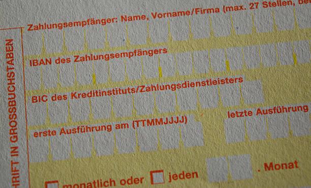 IBAN-Überweisungen Einzahlungsschein – Foto