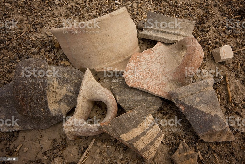 Remnants of an ancient civilization in the Jordan River Valley stock photo