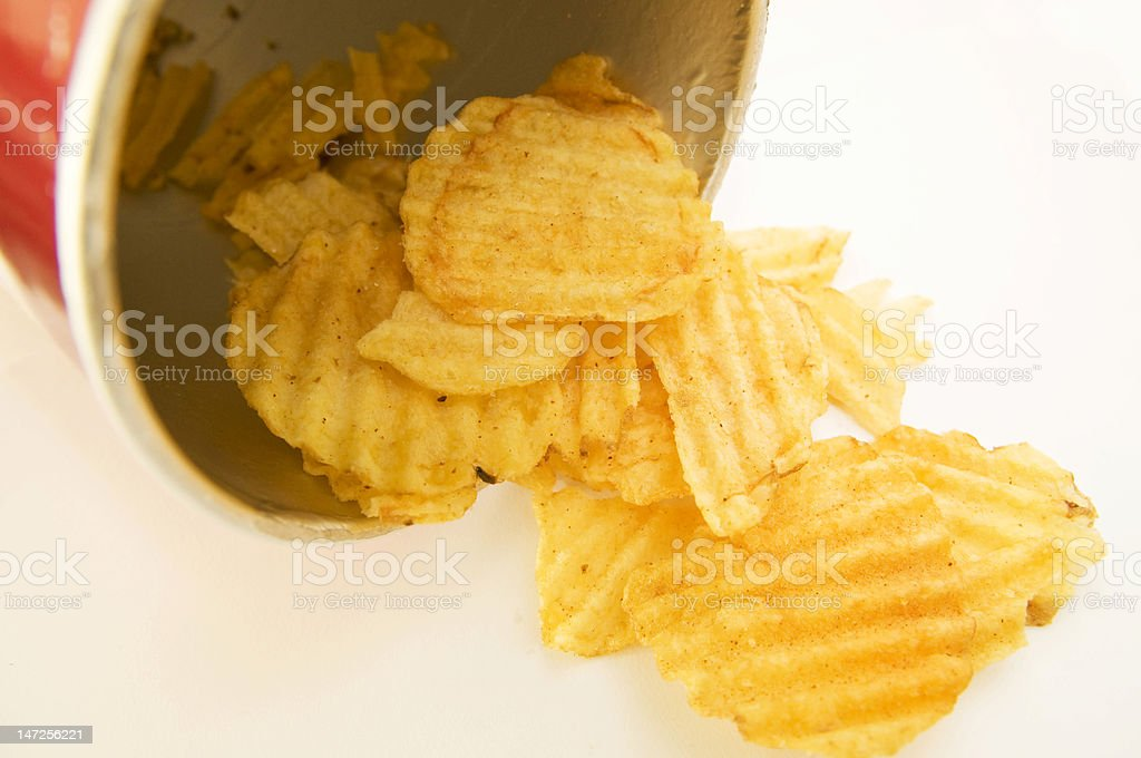 Remnants of crinkled chips/crips royalty-free stock photo