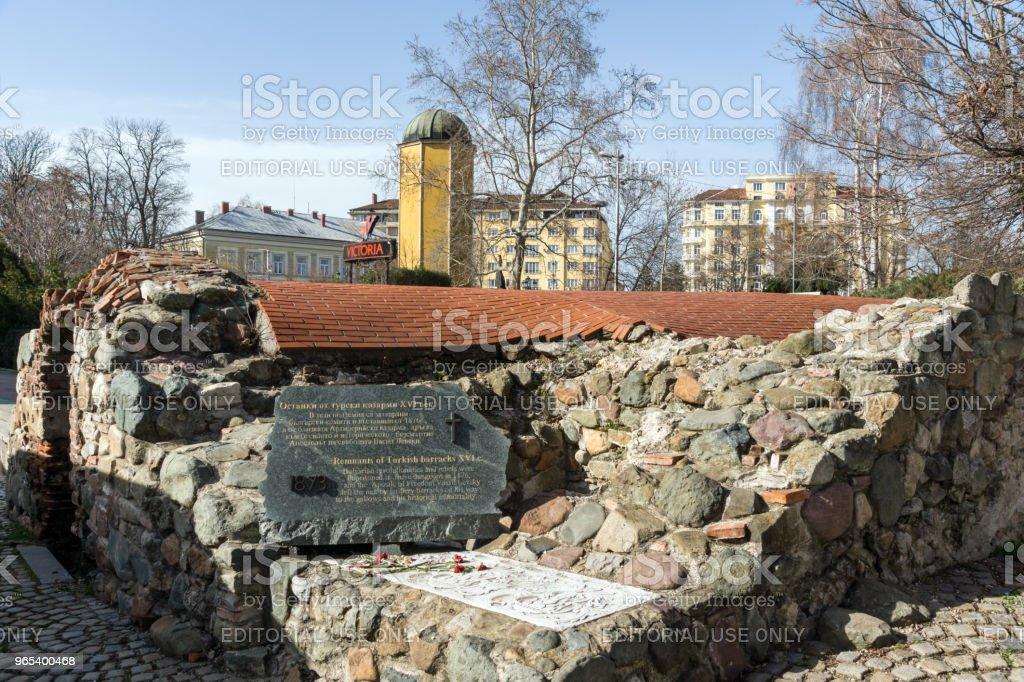 Remnants of sixteenth century Turkish barracks in Sofia, Bulgaria zbiór zdjęć royalty-free