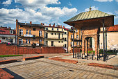 istock Remnants of the Jewish synagogue, Bima or Bimah in Tarnow, Poland. Jewish culture and architecture 1266469802