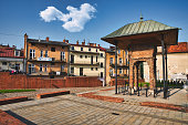 istock Remnants of the Jewish synagogue, Bima or Bimah in Tarnow, Poland. Jewish culture and architecture 1266469805