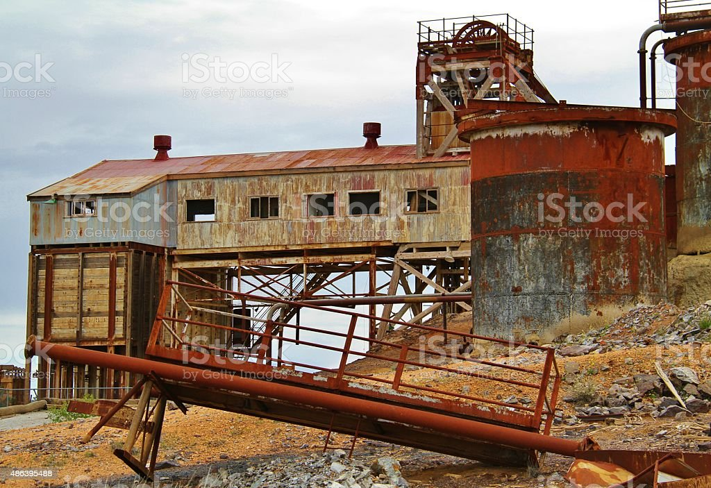 Remnents of Borken Hill Mining industry stock photo