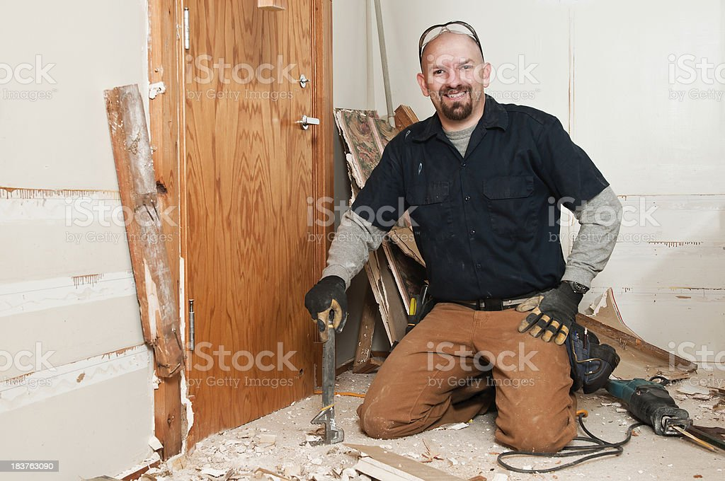 Remodel Guy Smiling royalty-free stock photo