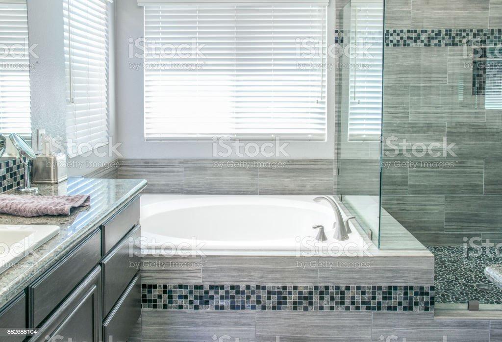 Remodeled Modern Bathroom stock photo