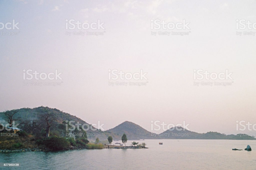 Remote African Village stock photo