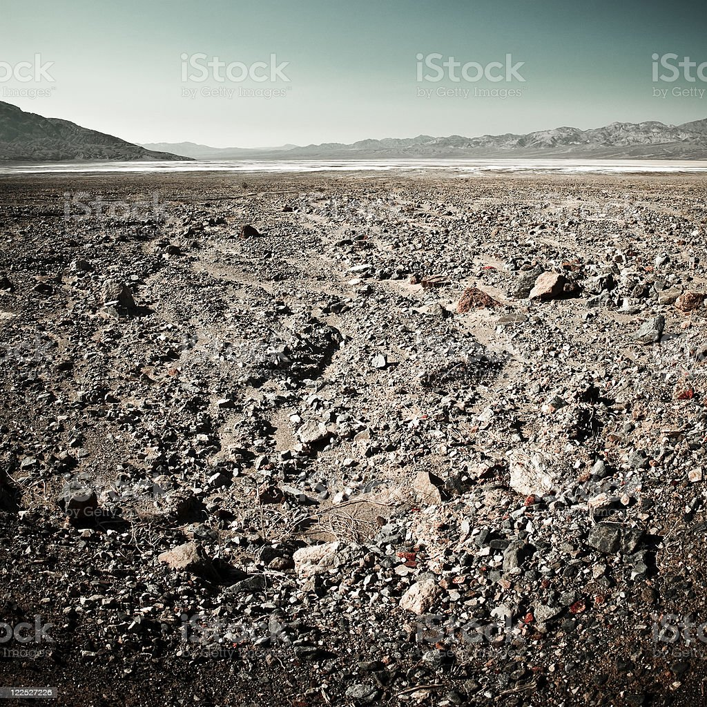 Remote and Arid Landscape Death Valley National Park stock photo