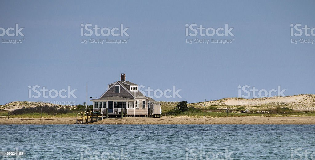 Remote Beach House stock photo