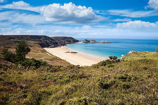 Plage isolée sur la côte de Bretagne, en France - Photo