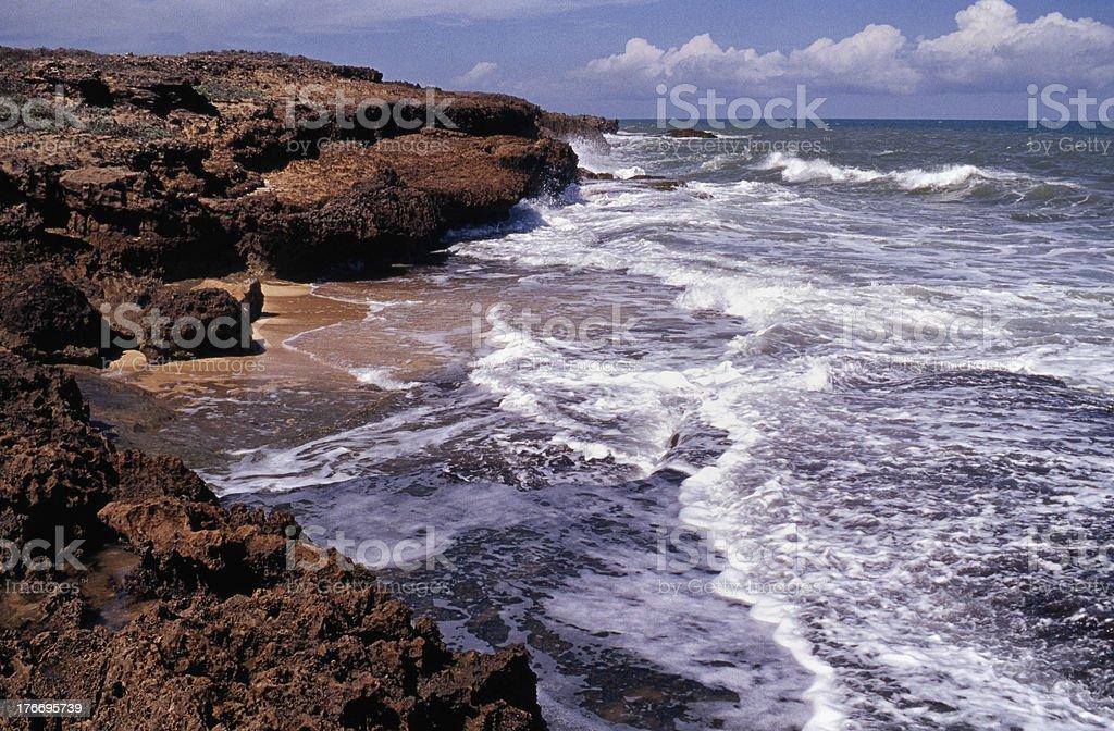 Remote beach stock photo