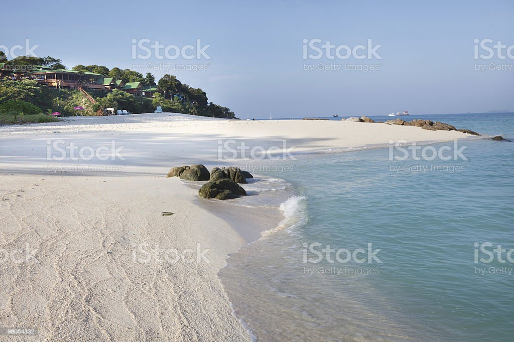 Remote beach royalty-free stock photo