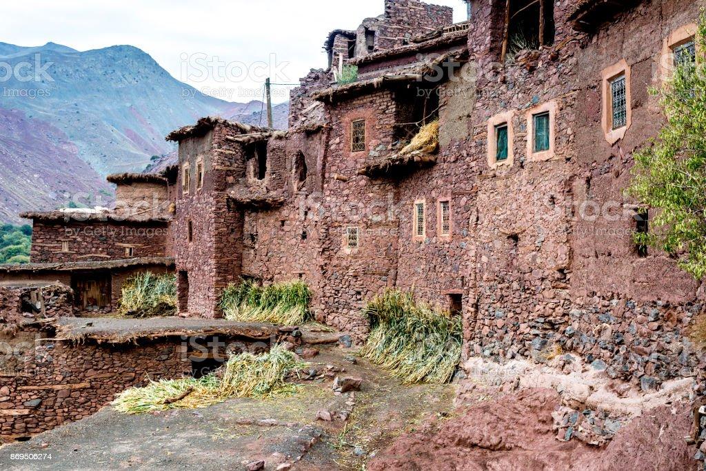 Remote Berber village in Morocco stock photo