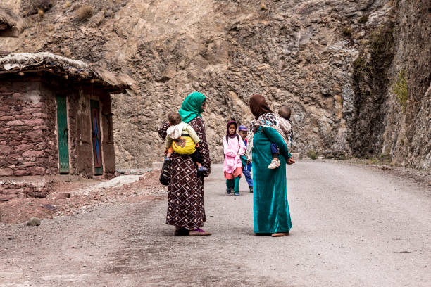 remote berber village in morocco - north africa stock photos and pictures