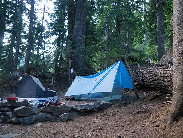 Remote Campsite stock photo