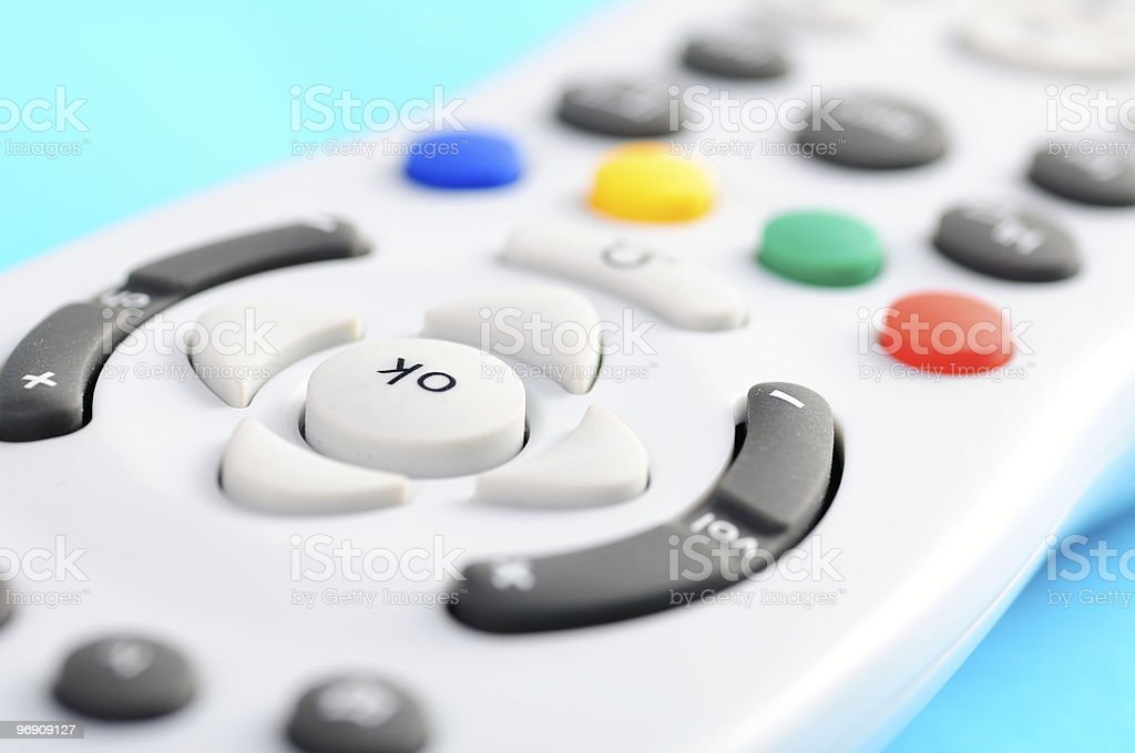 Remote control button royalty-free stock photo