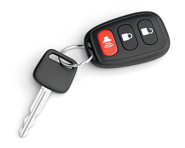 remote control car key - transportation icons stock photos and pictures