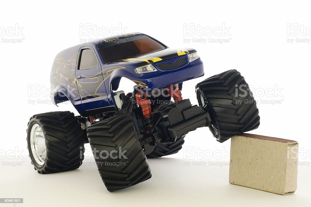 Remote control car on a white background  stock photo
