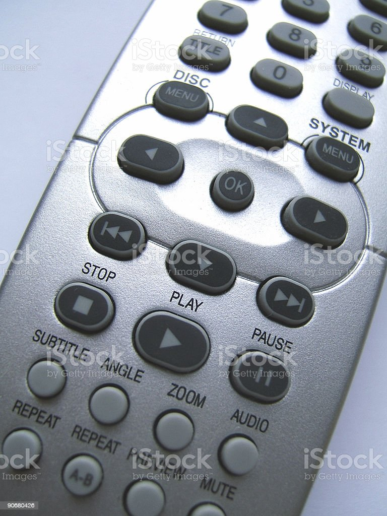 Remote control close-up royalty-free stock photo