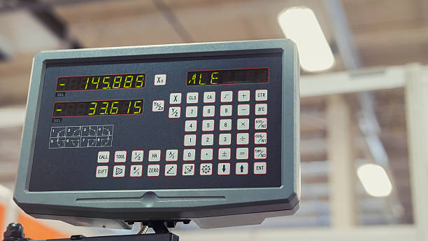lcd remote control for machine at industrial manufacture factory - depositor stock pictures, royalty-free photos & images