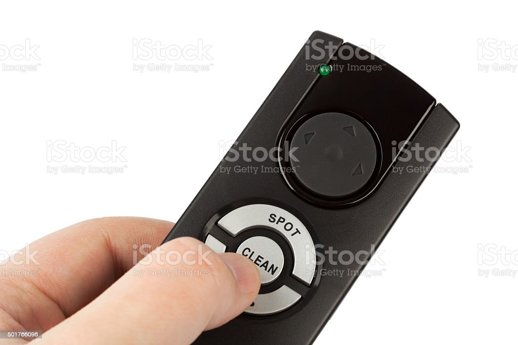 Remote control for vacuum cleaner stock photo