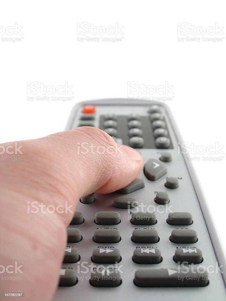 Remote control in your hand! stock photo