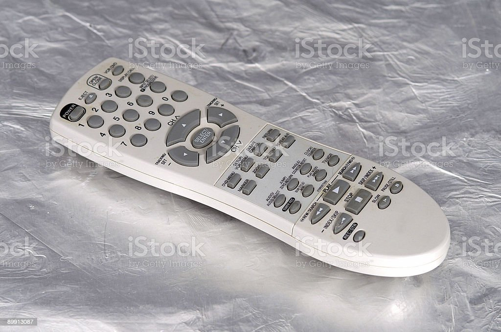 Remote Control on  silver royalty-free stock photo