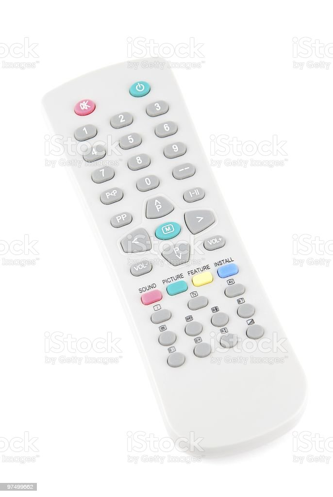 Remote control on white royalty-free stock photo