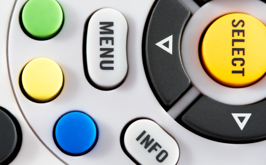 Tv Remote Control Stock Photo - Download Image Now