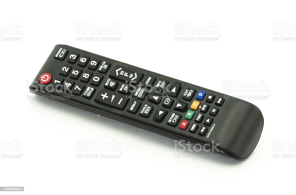 remote control television stock photo