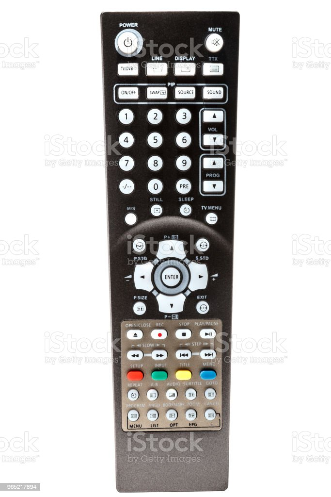 TV remote control  with colored buttons zbiór zdjęć royalty-free