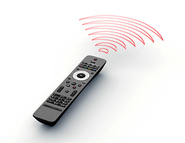 remote, control with l waves on white – Foto