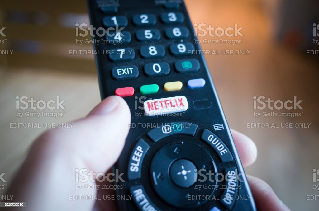 TV Remote Control with Netflix Button royalty-free stock photo