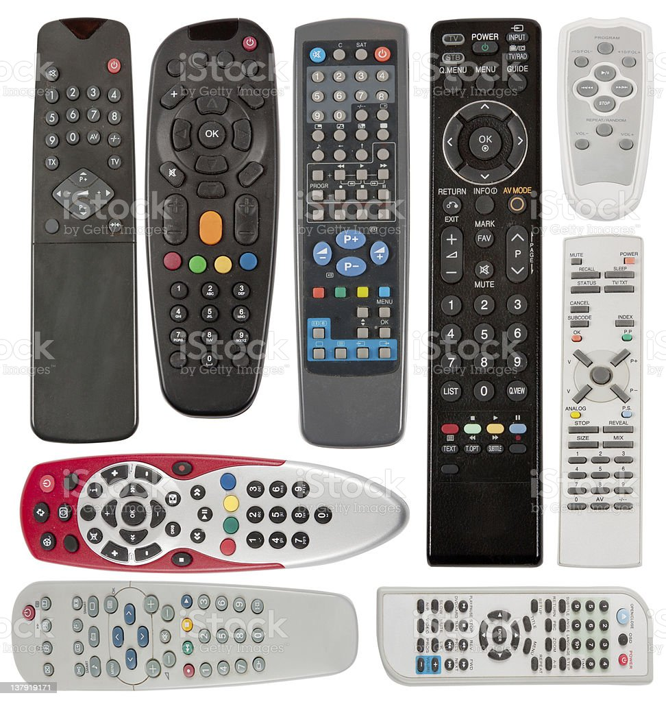 TV remote controlers royalty-free stock photo