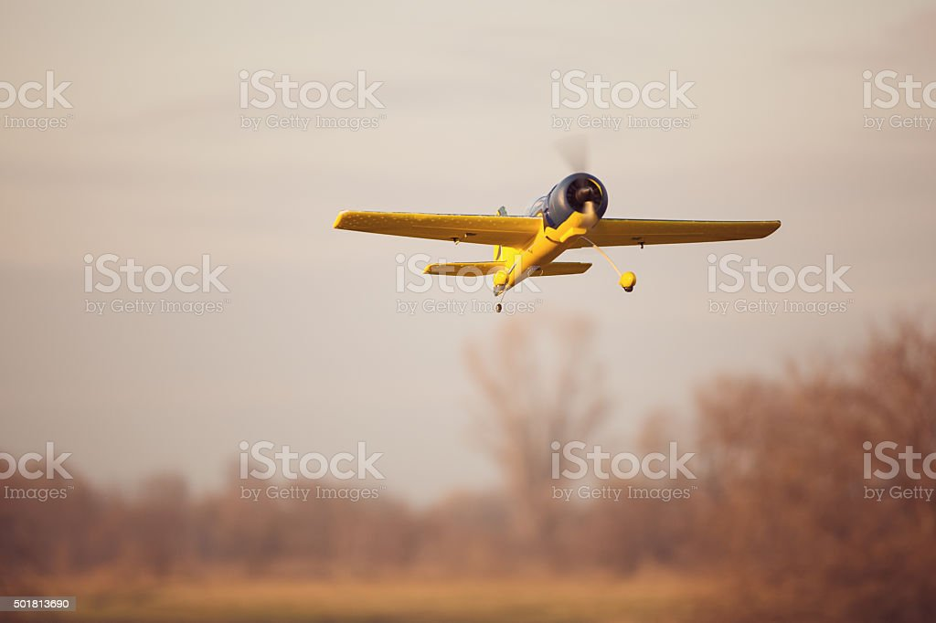 Remote Controlled Airplane stock photo