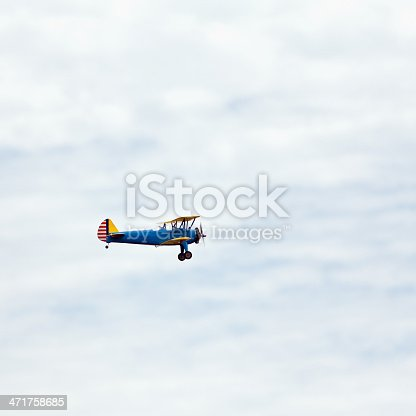 Remote controlled biplane.