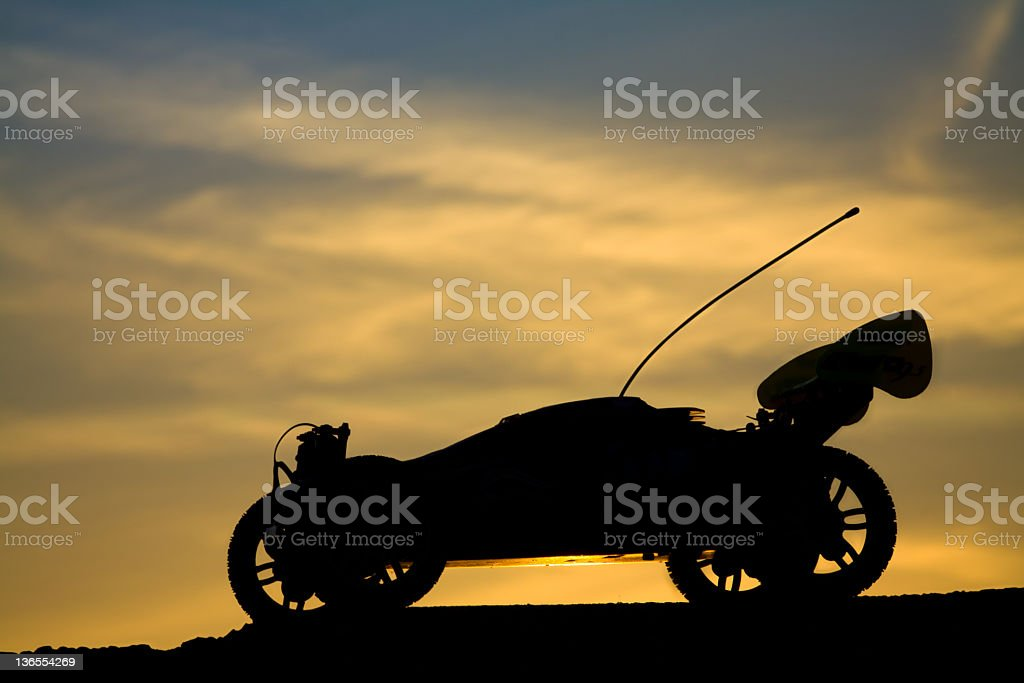 Remote controlled car with nitro powered stock photo