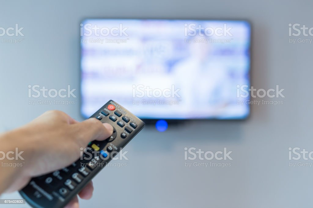 Remote controller.Use for control tlevition. royalty-free stock photo