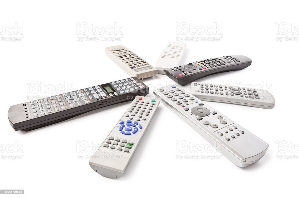 Remote controls (clipping path) royalty-free stock photo