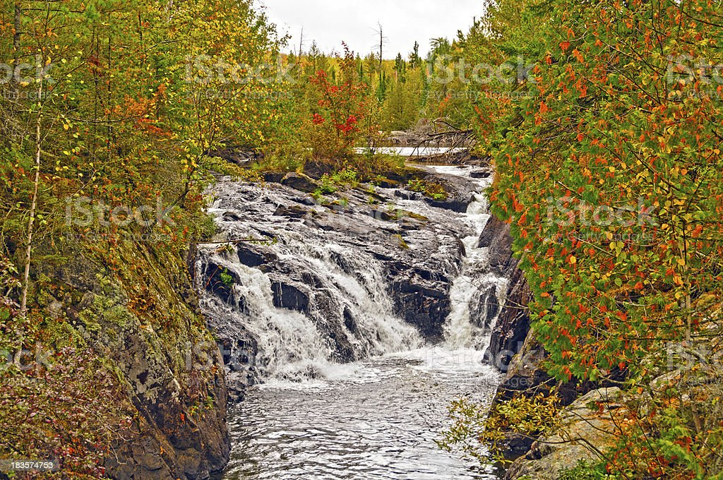 Remote Falls on a Autumn Day stock photo