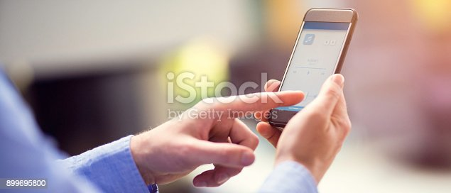 istock Remote home control system on a smart phone 899695800